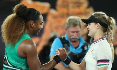 Serena beats Bouchard