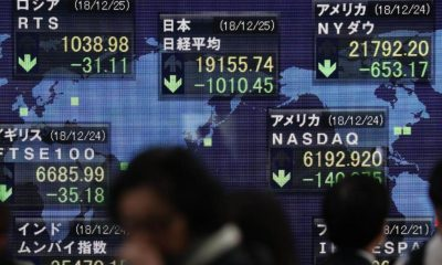 Asian shares drop on trade talks fears weak US retail